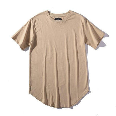 'Plain Scoop' Khaki T-shirt