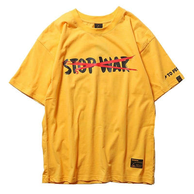 'Peace Be With You' T-Shirt Yellow Front