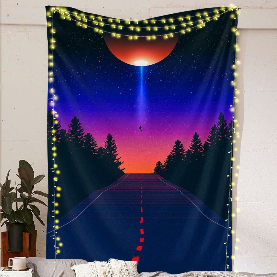 Planet Abduction Tapestry