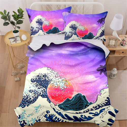 Pink Vaporwave Bedding Set