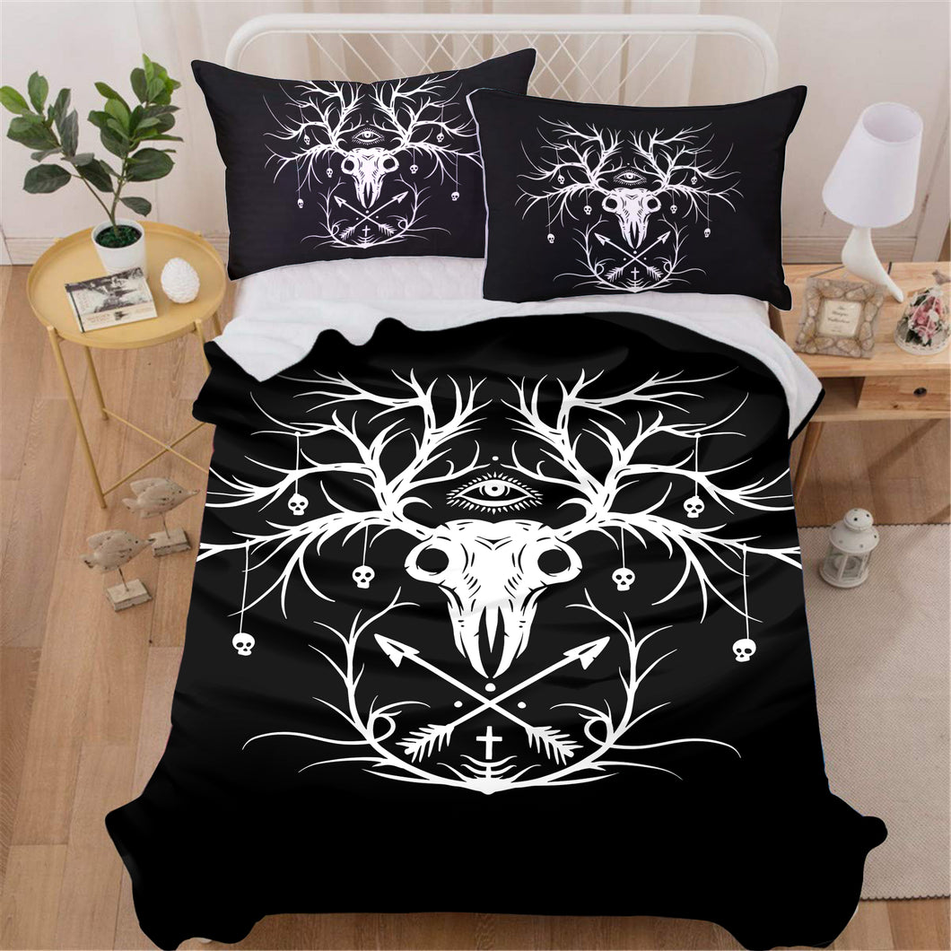 Skeleton Deer Bedding Set