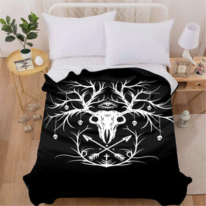 Skeleton Deer Blanket