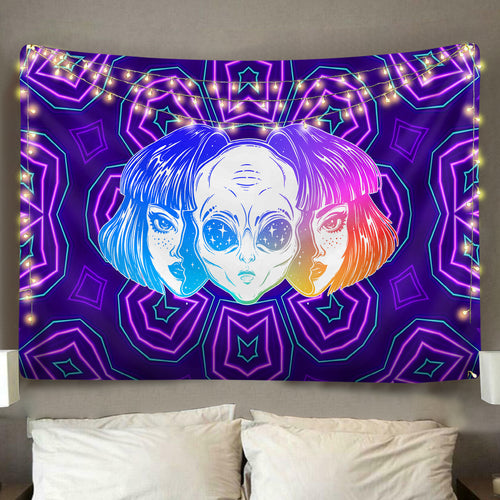 Alien Born Neon Tapestry