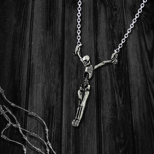 Hanging Skeleton Necklace