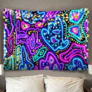 Neon Universe Tapestry