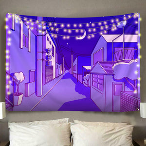 Anime Night Tapestry