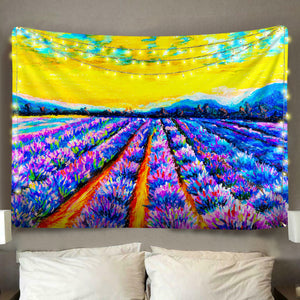 Purple Flower Farm Tapestry