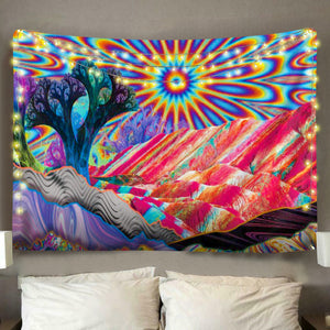 Psychedelic Mountain Tapestry