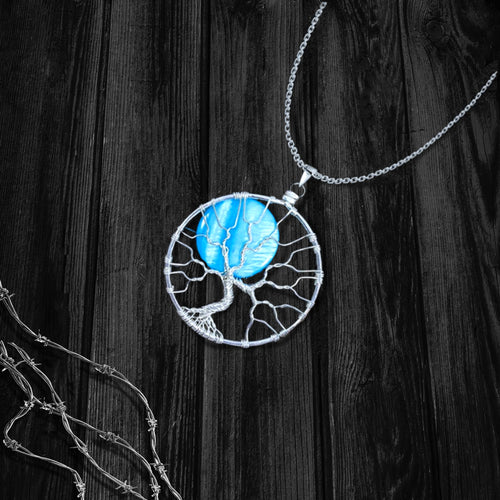 Rising Moon Tree Of Life Necklace
