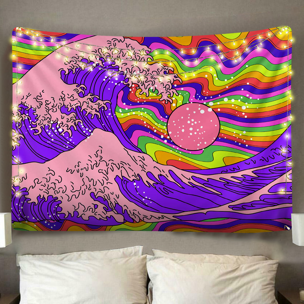 Great Psychedelic Wave Tapestry