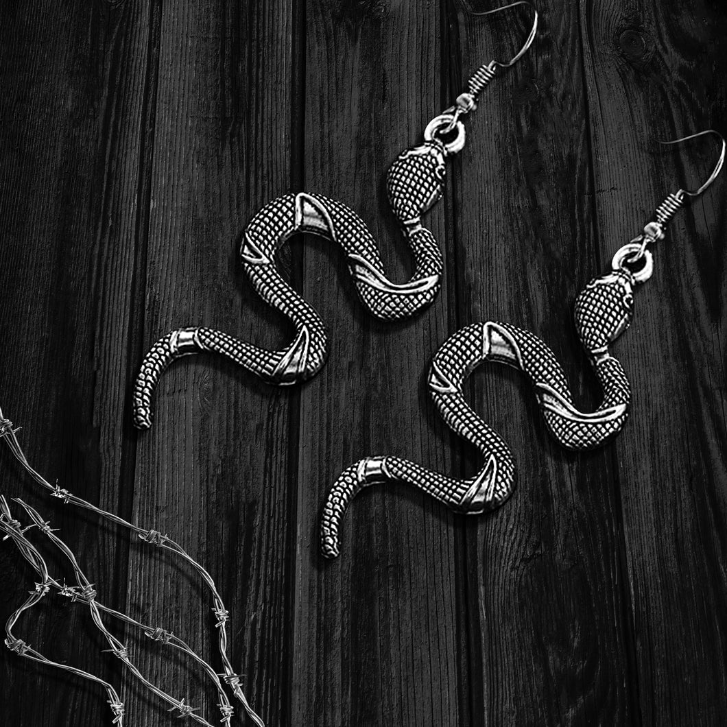 Slithering Snake Earrings