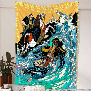 Samurai Wave Tapestry