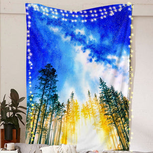 Galaxy Trees Tapestry