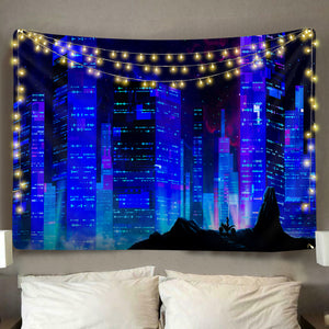 Cyber City Tapestry