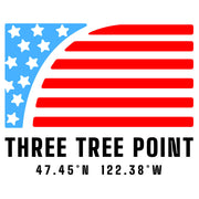 Three Tree Point Flag Short-Sleeve Unisex T-Shirt - Dark