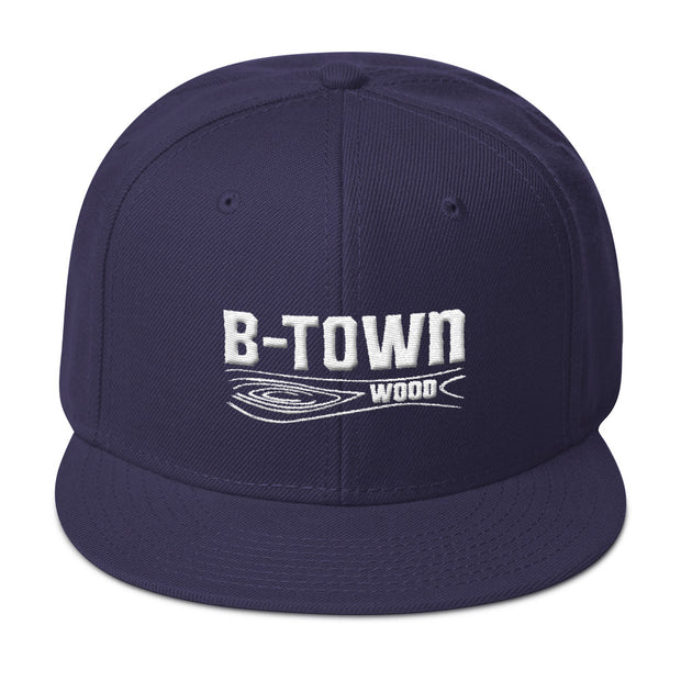 B-Town Wood Embroidered Whole Blend Snapback Hat