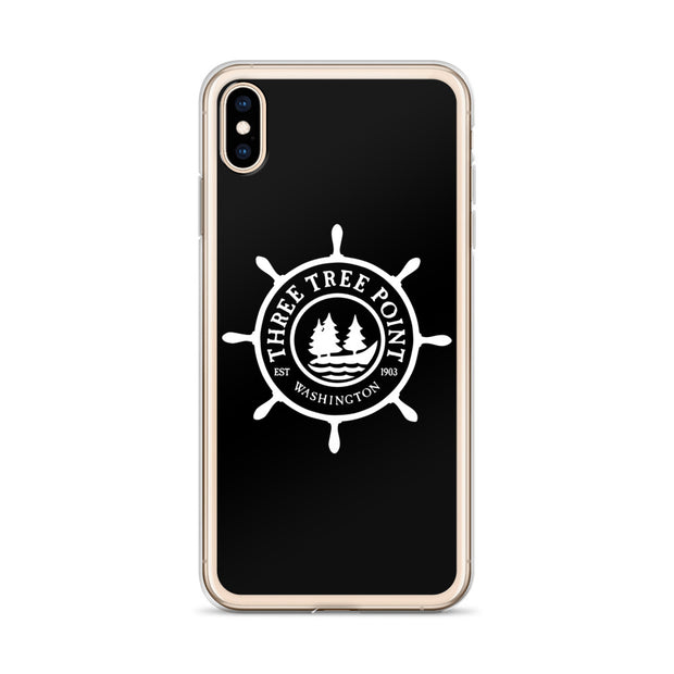 Three Tree Point iPhone Case - Black