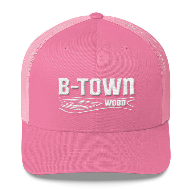 B-Town Wood Embroidered Trucker Cap