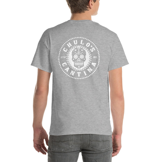 Chulo's Sugar Skull Men's Cotton Classic Fit Short T-Sleeve