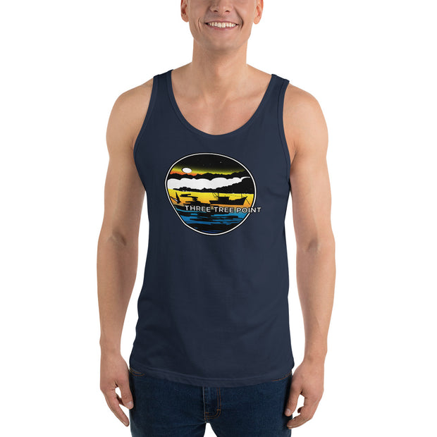Three Tree Point Retro 80's Mens Tri-blend Tank Top