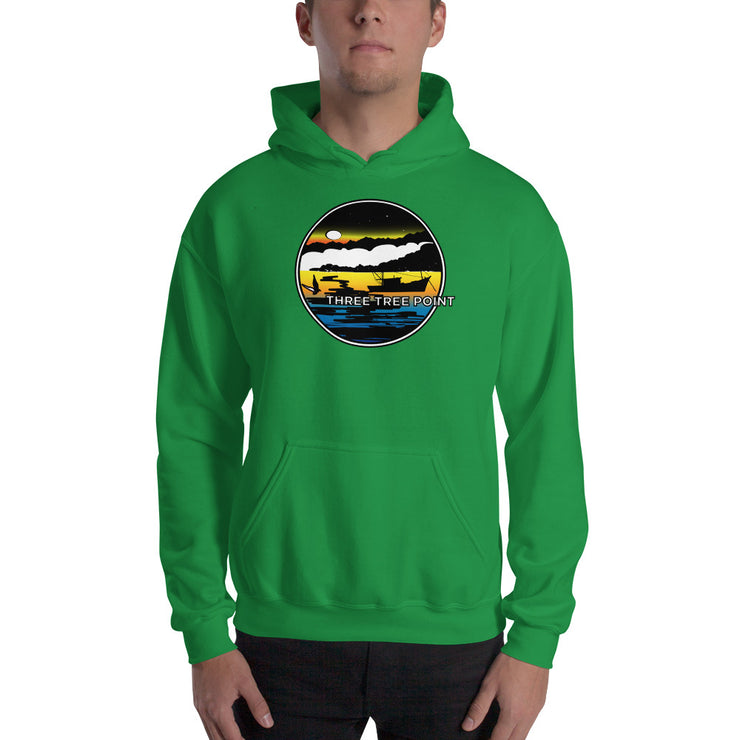 Three Tree Point Retro 80's Heavy Hoodie Sweatshirt