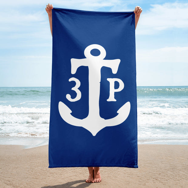 3TP Anchor Towel - Blue