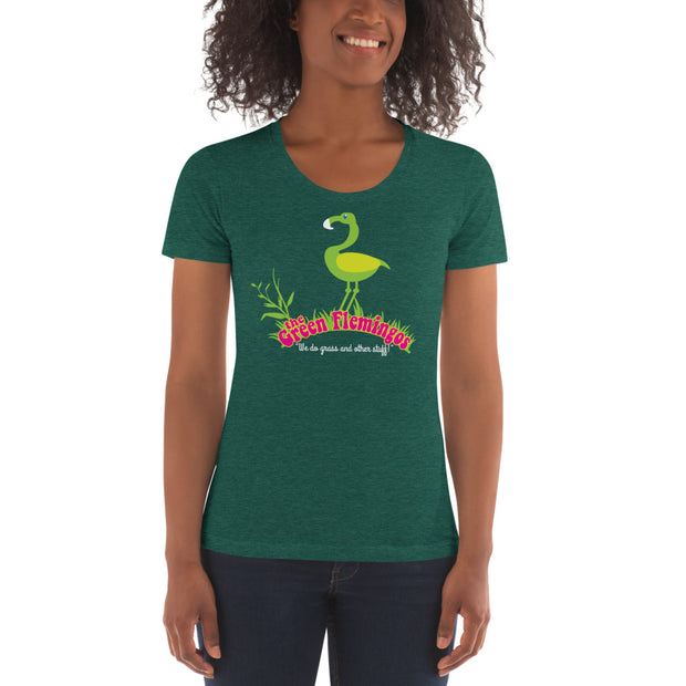 Green Flemingos Women's Crew Neck T-shirt - Dark