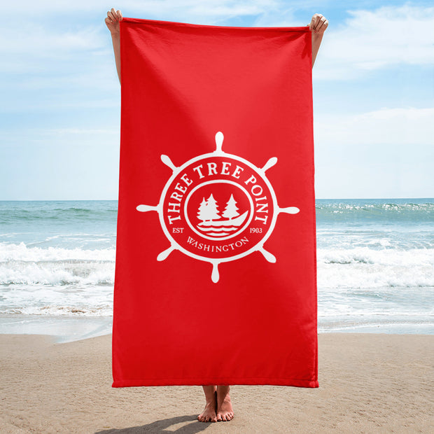 Three Tree Point Towel - Red