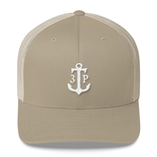 3TP Anchor Embroidered Trucker Cap