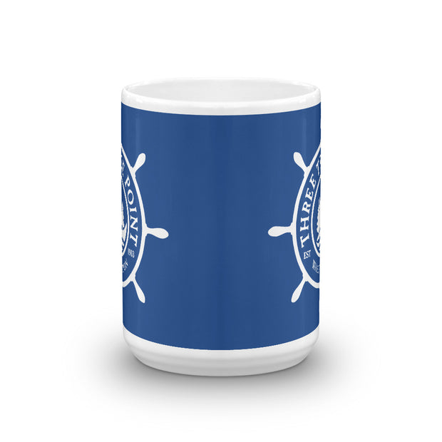 Three Tree Point Mug - Blue