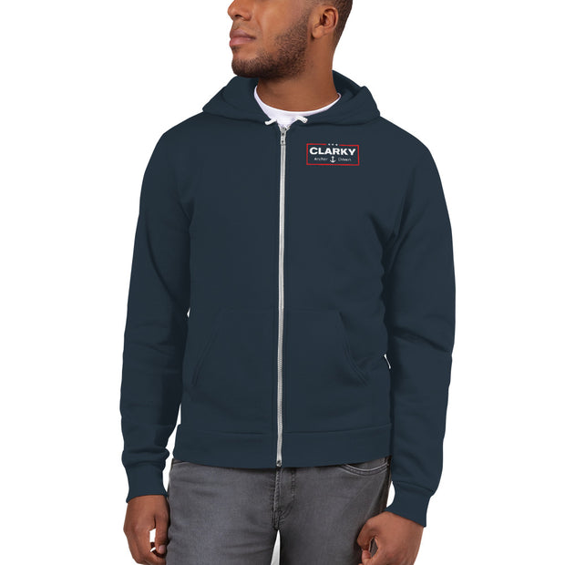 Clarky 2020 Anchor Down Premium Zip Hoodie Sweatshirt