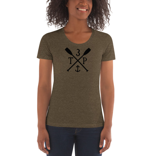 3TP Oars Women's Tri-Blend Premium Crew Neck T-shirt