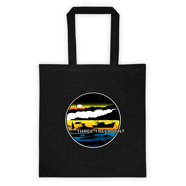 Three Tree Point Retro 80's Tote bag