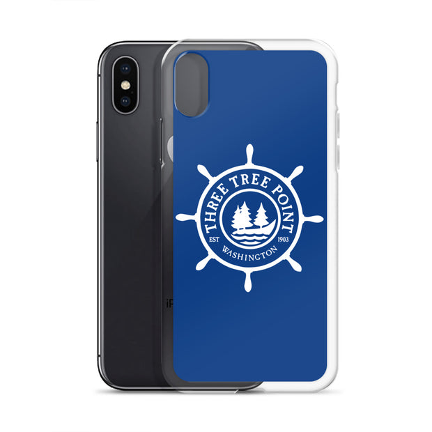Three Tree Point iPhone Case - Blue