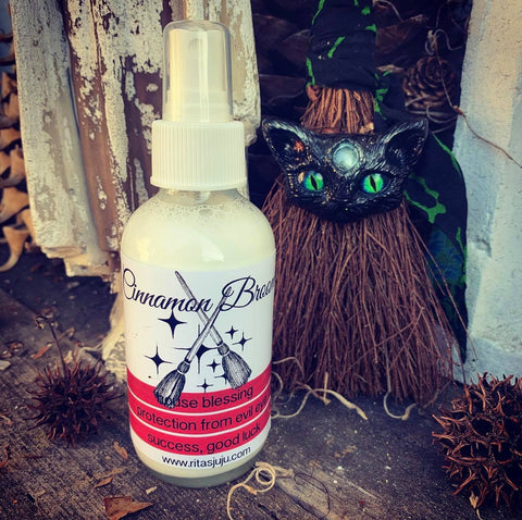 Rita's Cinnamon Broom Spiritual Mist Spray, House Blessing, Broom Charging, Cleansing, Abundance