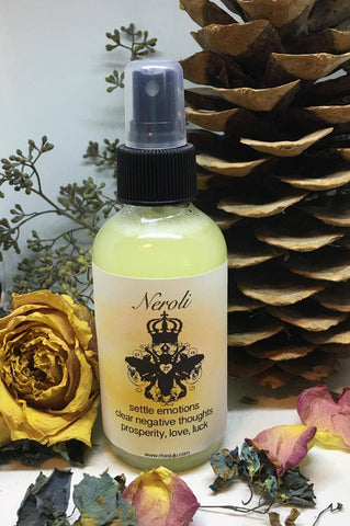 Rita's Neroli Spiritual Mist Spray - Settle Emotions, Clear negative Thoughts, Prosperity, Luv, Luck