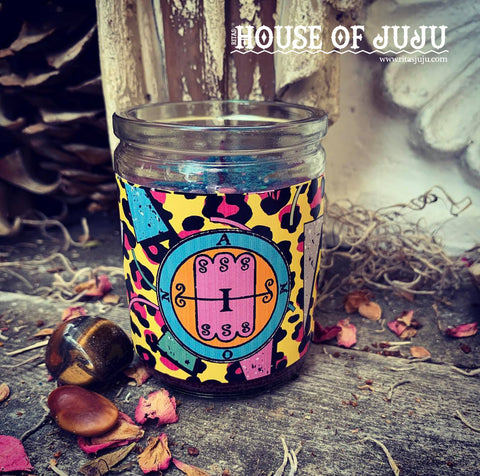 Rita's Amon 2 Day Hoodoo Ritual Candle - Reconcile Enemies, Blossom Love, See into the Future