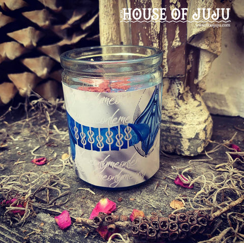 Rita's Blue Penis Hoodoo 2 Day Ritual Candle - Keep Your Lover Only Loving on You