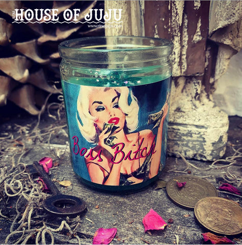 Rita's Boss Bitch Hoodoo 2 Day Ritual Candle - Take Charge, Command Attention, Get Paid Like a Man
