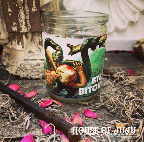 Rita's Bye Bitch Hoodoo Ritual 2 Day Candle - Get That One Bitch Gone, Go Away, Leave Me Alone