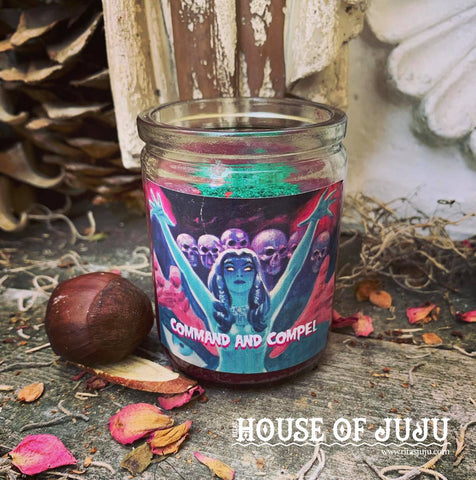 Rita's Command and Compel Hoodoo Ritual 3 Day Candle - Dominate a Situation, Compel Others to Your Will, Conjure Desires and Dreams