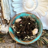 Rita's Black Patchouli Hand Dipped Ritual Incense Cones - Good Fortune, Love, Grounding, Protection - Pagan, Witchcraft, Hoodoo