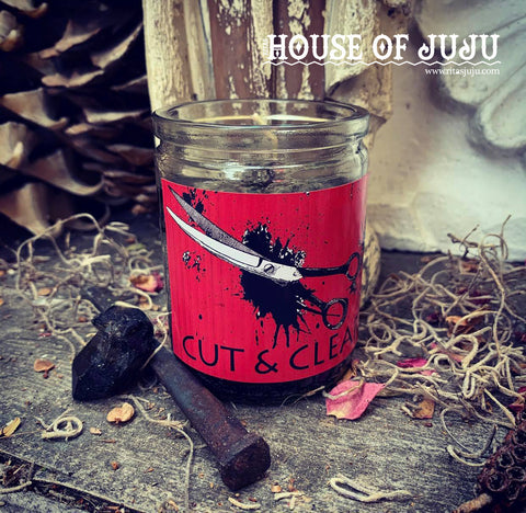 Rita's Cut & Clear 2 Day Hoodoo Ritual Candle - Detach from the Past, Cut Ties with Negative Sources