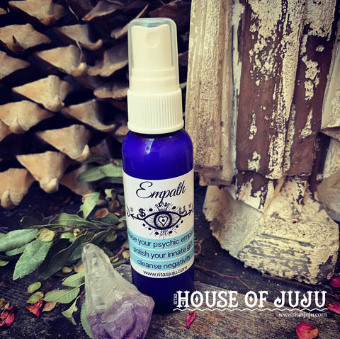 Rita's Empath Spiritual Mist Spray 2oz SAMPLE - Ease Your Psychic Empathy, Polish Up Your Innate Gift - Pagan, Hoodoo, Witchcraft
