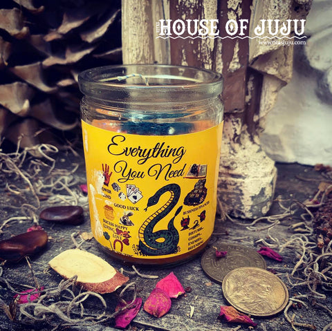 Rita's Everything You Need 2 Day Hoodoo Ritual Candle - Love, Luck, Success, Prosperity, Protection, Good Health, Blessings