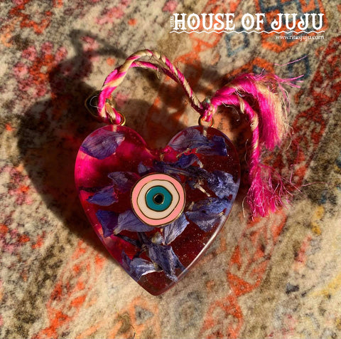 Rita's Evil Eye Protect Your Heart Bohemian Amulet