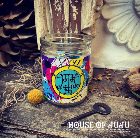 Rita's Foras 3 Day Hoodoo Ritual Candle - Enhance Your 3W's, Crystal Wisdom, Logic, Return What is Yours