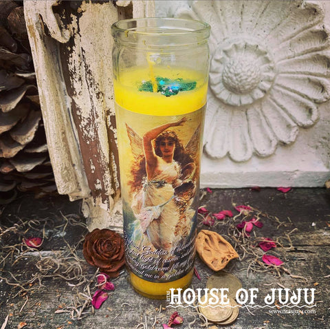 Rita's Fortuna Hoodoo 7 Day Ritual Candle - Bring Fortune into Your Life, Draw on Your Inner Child of Fortune