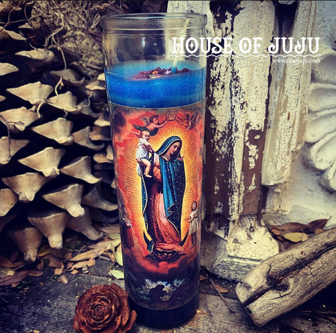 Rita's Lady of Guadalupe Ritual Hoodoo 7 Day Candle for Insight, Protection, Miracles, Work, Inspiration