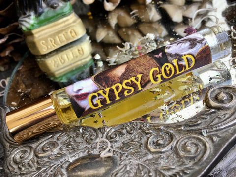 Rita's Apothefairie™ Gypsy Gold Ritual Perfume Oil - Draw in Money from Unexpected Places